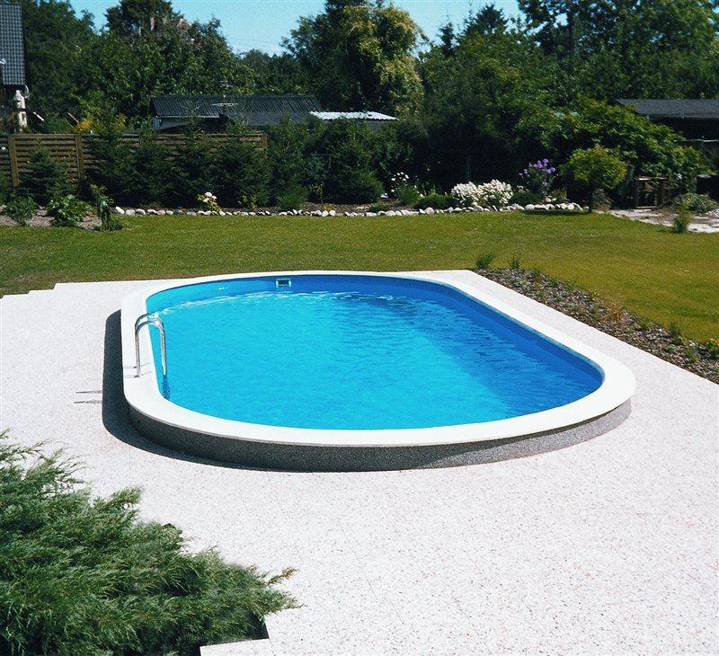 pool set komplett oval ovalform becken stahlwand. Black Bedroom Furniture Sets. Home Design Ideas